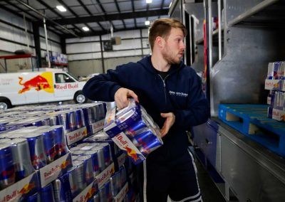 Palmentere Brothers Loading Red Bull Into Truck